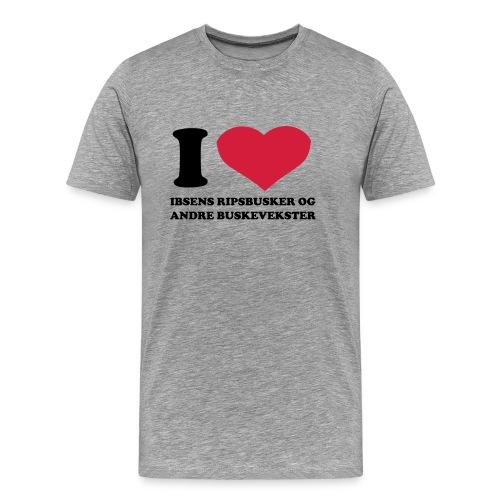 Jeg  elsker ibsens ripsbusker - Premium T-skjorte for menn