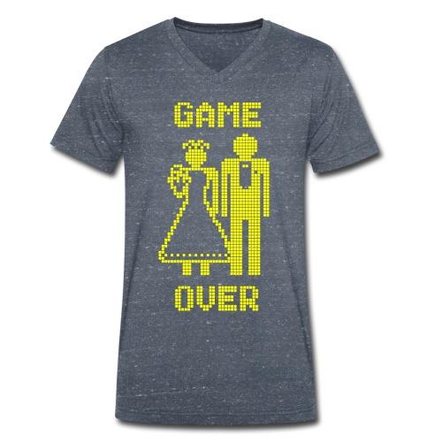 Game Over Old Skool geel - Mannen bio T-shirt met V-hals van Stanley & Stella