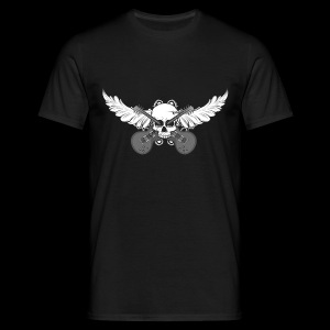 Flying skull with guitars - grey - Männer T-Shirt