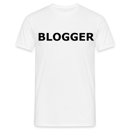 Blogger T-shirt - Mannen T-shirt