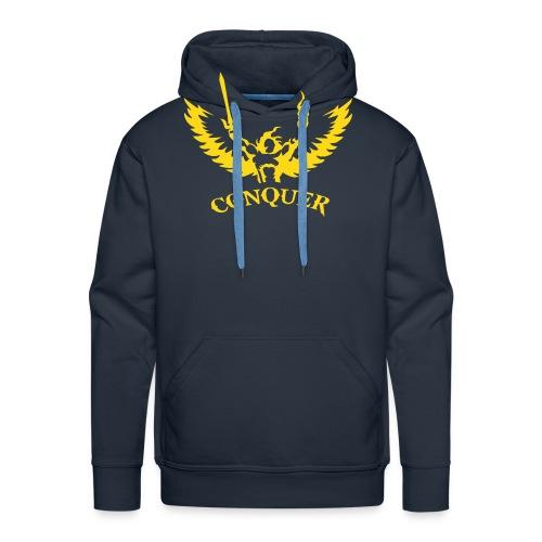 CONQUER  - Sweat-shirt à capuche Premium pour hommes