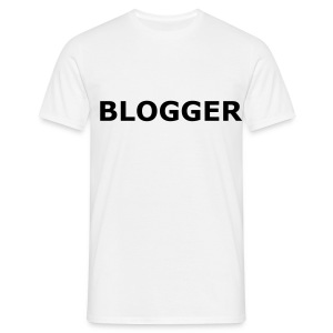Blogger T-shirt me version 1.0 back - Mannen T-shirt
