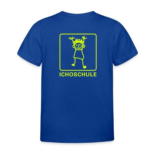 Ichoschule T-Shirt blau mit Logo am Rücken - Kinder T-Shirt