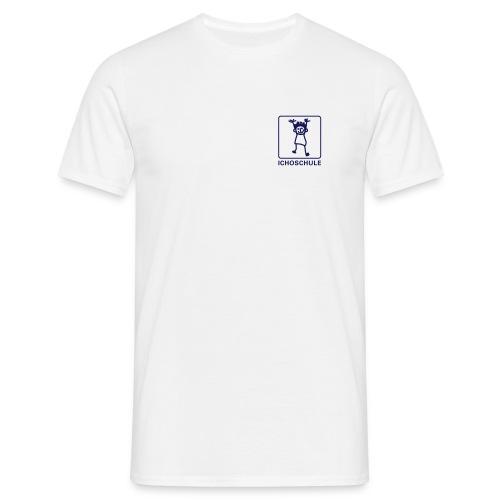 Männer T-Shirt - T-Shirt mit Ichoschule Logo und Aufdruck STAFF auf dem Rücken