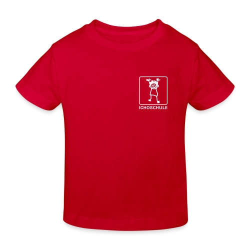 Ichoschule T-Shirt rot organic - Kinder Bio-T-Shirt