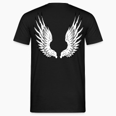 Black angel wings Men's Tees