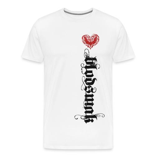 Blodsmak loddrett  - Premium T-skjorte for menn