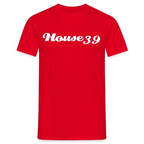 House39-Red/White - Männer T-Shirt