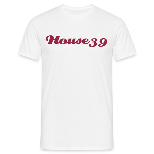 House39-White/red - Männer T-Shirt