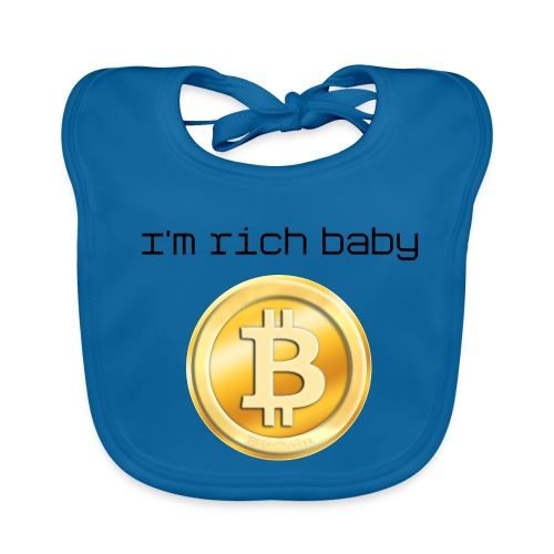 Baby Organic Bib - Your child are rich, because You use the BitCoin