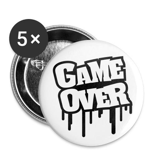 Game Over RintaMerkki. - Rintamerkit pienet 25 mm (5kpl pakkauksessa)