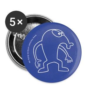 Hempel Pin Outline blue, Anstecknadel, Button - Buttons mittel 32 mm