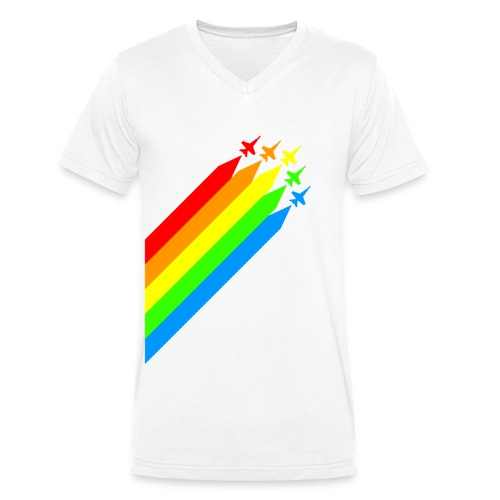 rainbow flyer - Männer Bio-T-Shirt mit V-Ausschnitt von Stanley & Stella