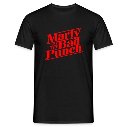 Marty & The Bad Punch - red Logo  - Men's T-Shirt