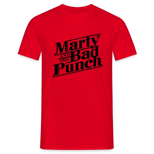 Marty & The Bad Punch - black Logo  - Men's T-Shirt