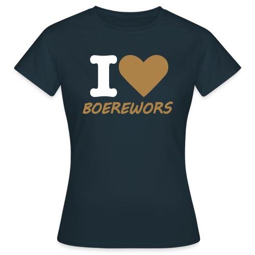 Womens I Love Boerewors T-Shirt - Women's T-Shirt