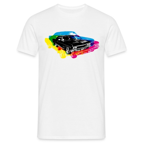 Muscle Car Retro CMYK - T-shirt Homme