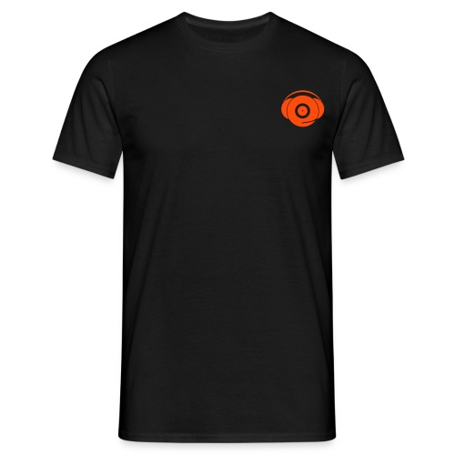 Small Logo Only, Classic design (orange on black) - Men's T-Shirt