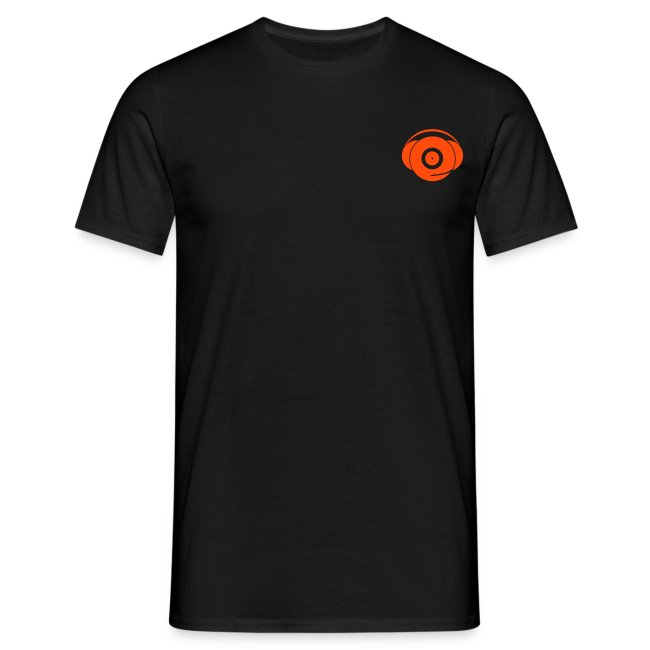Small Logo Only, Classic design (orange on black)