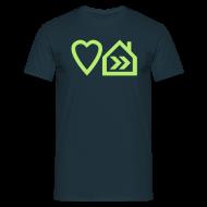T-Shirts ~ Men's T-Shirt ~ Love Progressive House (Symbolic, L Green on Navy)