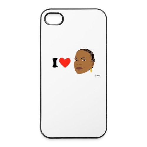 I love Taubira by Jeromeuh (Coque Iphone) - Coque rigide iPhone 4/4s