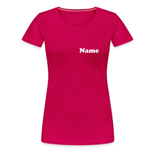 Berlin'13 Lady Pink + Name - Frauen Premium T-Shirt