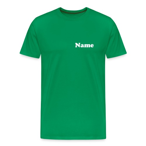 Berlin'13 Green + Name - Männer Premium T-Shirt