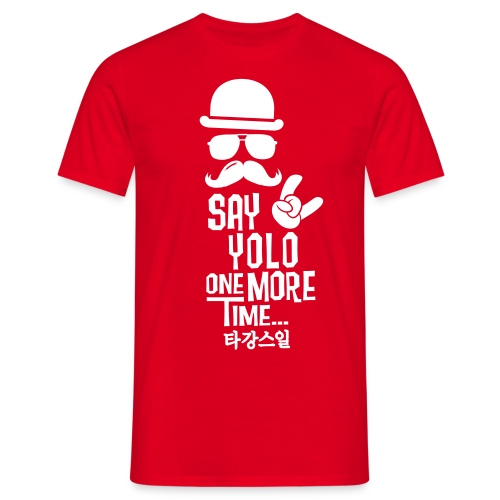 Say Yolo T-Shirt / Red - Men's T-Shirt