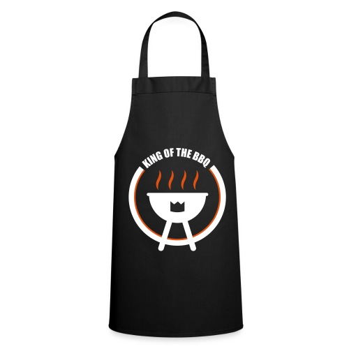 King Of The BBQ Black Apron  - Cooking Apron