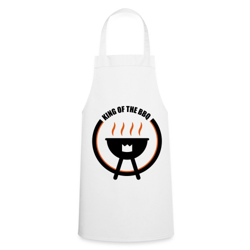King Of The BBQ White Apron  - Cooking Apron