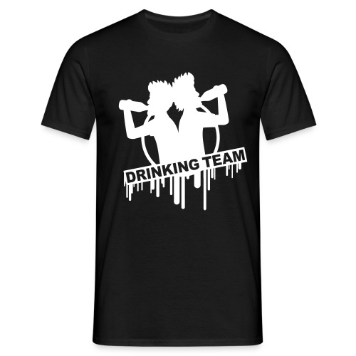 Drinking Team Mens Black T-Shirt - Men's T-Shirt