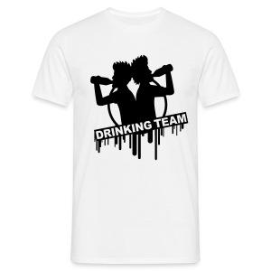 Drinking Team Mens White T-Shirt - Men's T-Shirt