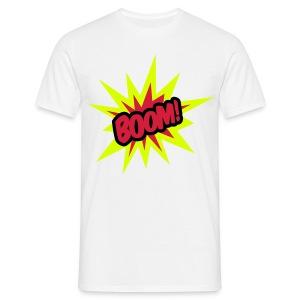 Boom! Mens White T-Shirt - Men's T-Shirt