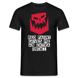 Red Paint gives me an extra.... - Men's T-Shirt