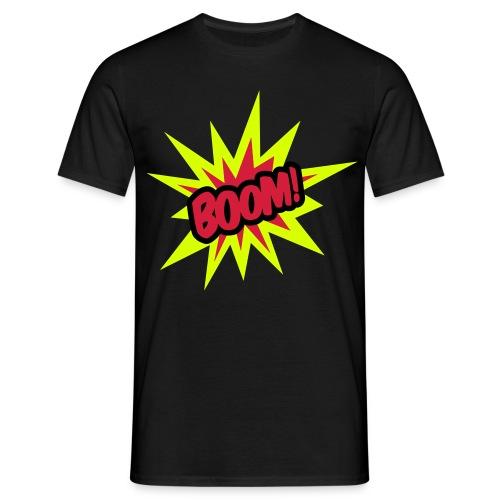 Boom! Mens Black T-Shirt - Men's T-Shirt