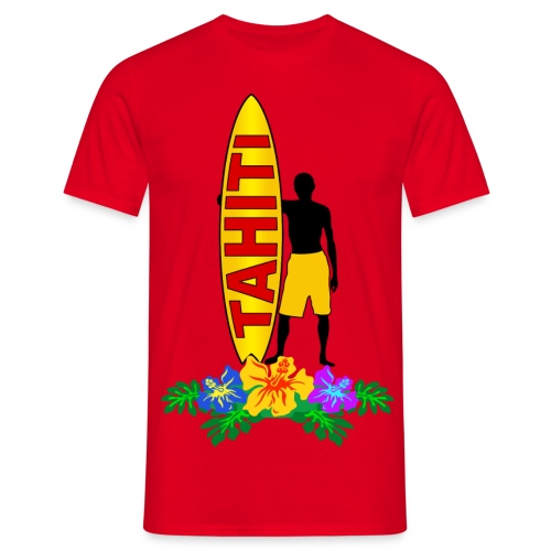 Tahiti surfing - Men's T-Shirt