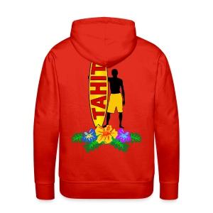 Tahiti surfing - Men's Premium Hoodie