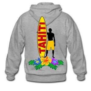 Tahiti surfing - Men's Premium Hooded Jacket