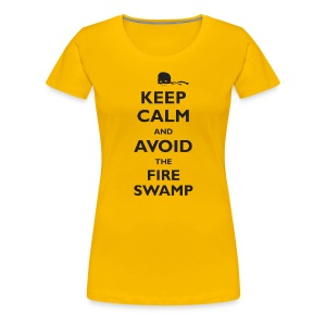 Keep Calm and Avoid the Fire Swamp (inspired by The Princess Bride) - Women's Premium T-Shirt