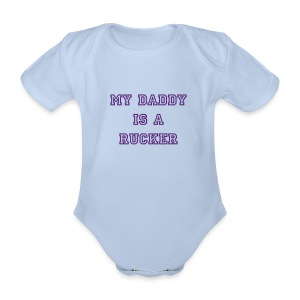 My Daddy (pink) - Organic Short-sleeved Baby Bodysuit
