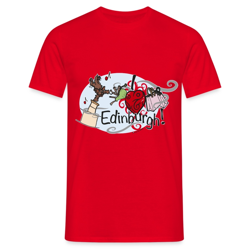 I LOVE Edinburgh - Men's T-Shirt