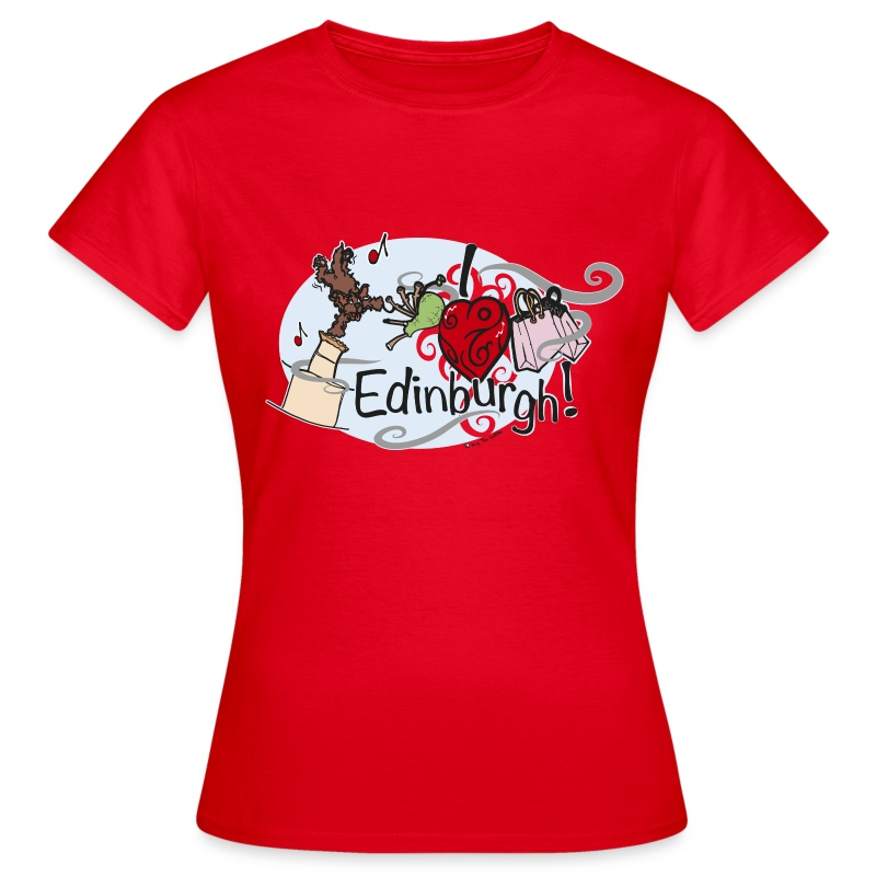 I LOVE Edinburgh - Women's T-Shirt