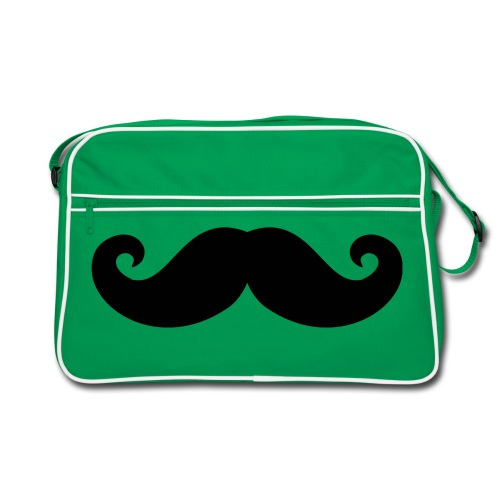moustachte retro bag  - Retro-tas