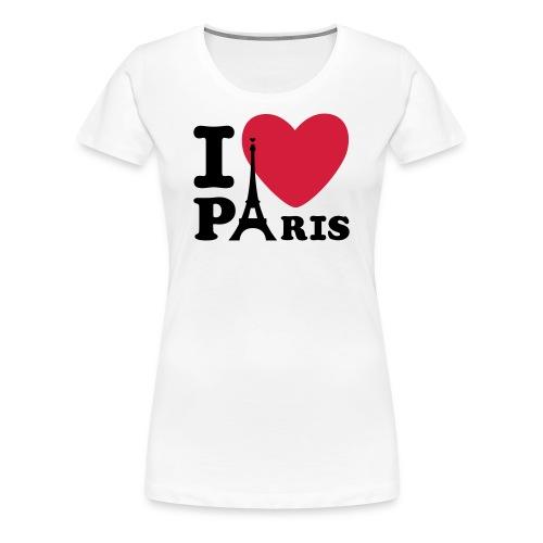 T-Shirt I Love Paris Femme Spreadshirt - T-shirt Premium Femme