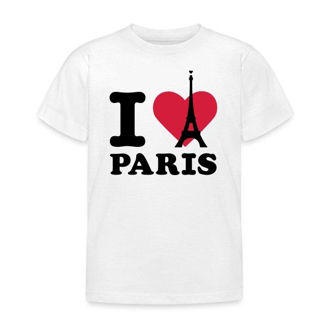 934a495a84cda T-shirt I love - One Click | T-Shirt I Love Paris Enfant B&C - T ...
