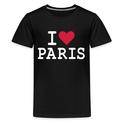 T-Shirt I Love Paris Ado Spreadshirt - T-shirt Premium Ado