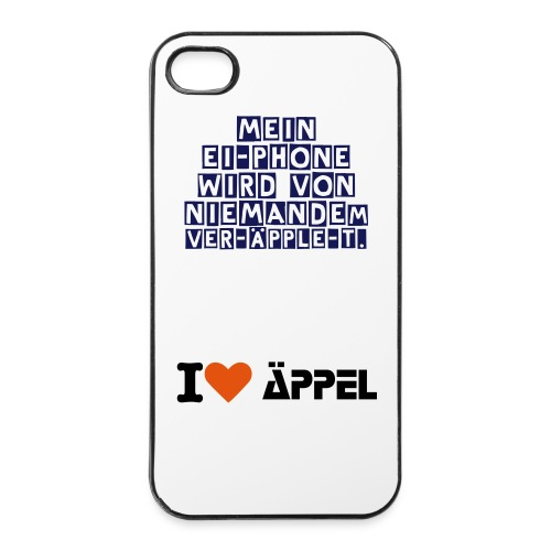 IPhone 4/4S Hardcase Äppel Edition - iPhone 4/4s Hard Case