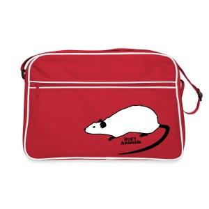 Retro Tasche rot mit Ratte - Retro Tasche