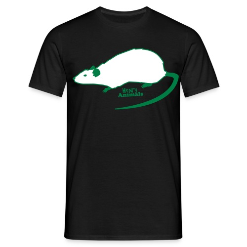 Basisshirt mit Ratte - leuchtet im dunkeln - Männer T-Shirt