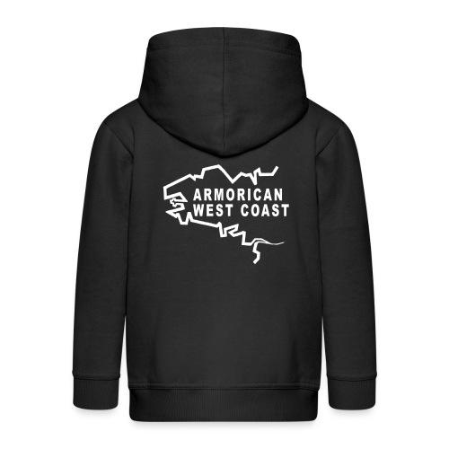 Armorican West Coast 2 motif blanc - Veste à capuche Premium Enfant